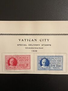 VATICAN CITY 1929 STAMPS SPECIAL DELIVERY EXPRESS LETTER Sc# E1 & E2 YVERT 1 & 2