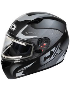Castle Mugello Squad Electric Snowmobile Helmet Matte Gray