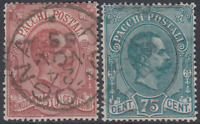 Italy Regno - 1884 Umberto I  Sassone Parcels n.3-4  used