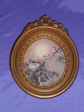 Vintage Homco Home Interior 3279 Margie Marrow Bird'S Nest Gold Framed Picture
