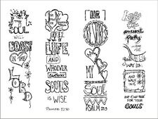 Art Borders (4) Soul (Art Cards/Bible Journaling/Faith/Scrapbooking/Cardmaking)