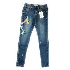 Velvet Heart Sadie Skinny Hummingbird Butterfly Embroidered Jeans NWT Sz 25