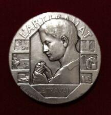 Médaille Bronze Argentée L'ARTISANAT Le Travail Graveur Rasumny 50 mm