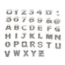 40x Steel Sticker 3D Car Alphabet Letter Number Symbol DIY Emblem Badge Decal