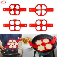 Nonstick Pancake Maker Mould Silicone Omelette Eggs Ring Maker Easy Fast Tool