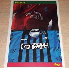 CARD SCORE 1993 MAGLIE PIACENZA PISA CALCIO FOOTBALL SOCCER ALBUM