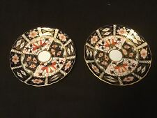 PAIR OF ROYAL CROWN DERBY TRADITIONAL IMARI SAUCERS 1 OF THE 2 FOR TIFFANY & CO