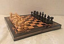 Schach-und Backgammonspiel, Vollkomplett, Holz