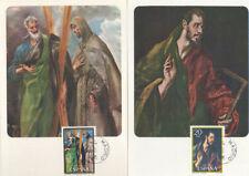 TARJETA MAXIMA EL GRECO SANTO TOMAS  EDIFIL 2666/67 1982 MAXIMUM CARD    TC11894