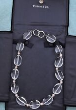 4d36340af Tiffany & Co Paloma PIcasso Sterling Silver Natural Quartz & Pink Pearl  Necklace