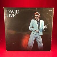David Bowie David Live 1974 UK Doppio Vinile LP Ottime Condizioni Originale