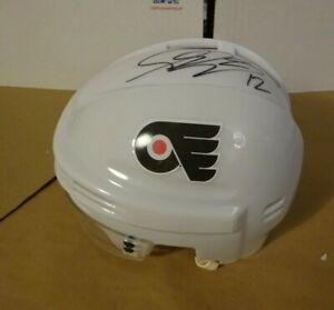 Signed SIMON GAGNE Autographed Philadelphia Flyers Mini Helmet