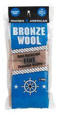 Rhodes American  Bronze Wool  5-1/4 in. W x 10.11 in. L Fine  0 Grade Steel Wool