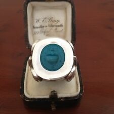 Fabulous Sterling Silver Ring set with a Georgian Ring Seal Stone