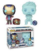 Marvel Morgan & Hologram Tony Stark w/ Helmet PIAB Exclusive Funko POP! NEW