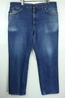 Vintage Riders 38x30 Faded Worn Distressed Denim Blue Jeans Union Made USA