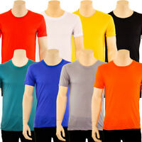 Mens T Shirt Tee Crew Neck Lightweight Short Sleeve Basic Plain Solid M L XL 2XL