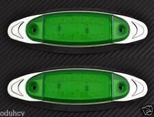 2 x 12 LED VERT 12V LATÉRAL CHROME côté FEUX DE POSITION VOITURE SUV VAN BUS
