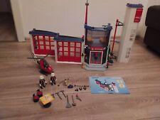 Playmobil 4819 Feuerwehr Hauptquartier mit Erweiterung 7465 , Löschhubschrauber