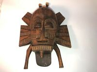 Vintage African Mask Hand Carved Wood D.R.Congo See pics, make offer!