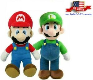 "Super Mario Bros Mario / Luigi TV Series Plush Toy Doll Gift Stuffed Animal 10"""