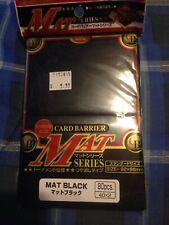 KMC Mat Black Sleeves - 80ct - Standard MTG Pokemon Size - Brand New