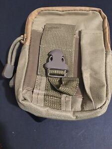 Tactical MOLLE Gadget EDC Utility Pocket Pouch Organizer Bag Coyote Tan