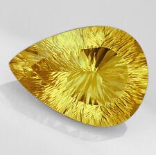 VVS 34.5CT 100% Natural Apple Green Yellow Lemon Citrine Brillant Cut QLCG523