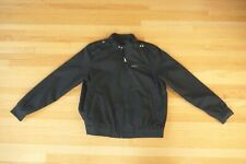 Members Only Black Racer Windbreaker Zip Up Jacket Lightweight Men's Size XL