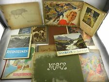 1903-1950's Lot of 12 Norge Books Norway Pictures People & Landscapes English