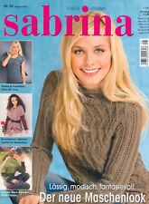SABRINA Nr. 08 August 2010 Strickheft Strickanleitung 08-10 Strickmagazin Heft