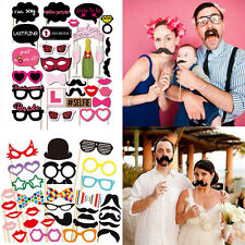 30Pcs Full Set Hen Party Selfie Photo Props Booth Kit Hen Night Games Accessorie