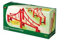 BRIO 33683 Double Suspension Bridge Wooden Train Railway Bridges inc 5pcs Age 3+