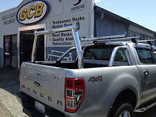 Tradesman rack / Ladder rack set - Ford PX Ranger Mk1 - Polished aluminium