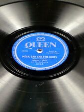 Rare Queen 5093 Lennie Lewis MEAN BAD EVIL BLUES / BLUE FLAME 78 V+