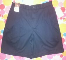 CLAIBORNE Men's Dress Shorts Black Size 32 Pleated Front NEW With Tags (50% OFF)