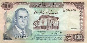 Morocco 100 Dirhams 1970