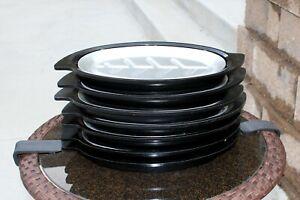 Set of 7 Nordic Ware 310 Sizzler Steak Fajita Serving Platters with Holders