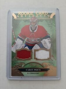 20/21 UD Artifacts Copper Dual Jersey Game Used /145 Carey Price