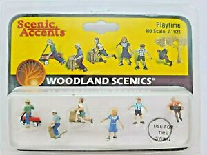 """SALE! HO SCALE WOODLAND SCENICS #A1921 """"PLAYTIME"""" NEW"""
