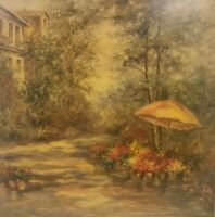 """American Impressionist Oil Painting on Canvas Garden Unframed Art (30"""" x 30"""")"""