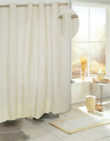"""""""Ez On"""" EVA shower curtain with built in shower curtain hooks:  size 70"""" wide..."""