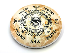 Round Ceramic Pendulum Board with All-Seeing Eye Design, Suitable for Divination