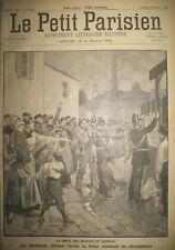 MINE TARN CARMAUX GREVES DES MINEURS ET GENDARMES LE PETIT PARISIEN 1892