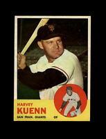 1963 Topps Baseball #30 Harvey Kuenn (Giants) NM