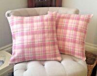 """Laura Ashley 100% Wool Plaid Cushion Cover 16""""x16"""" *Reversible"""