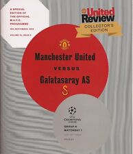 MANCHESTER UNITED v GALATASARAY Champions League 2012/13 MINT