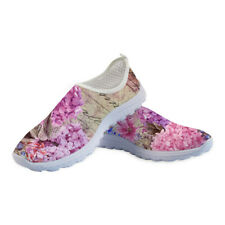 Flowers Slip On Trainers Running Shoes Womens Sneakers Lightweight Mesh Travel