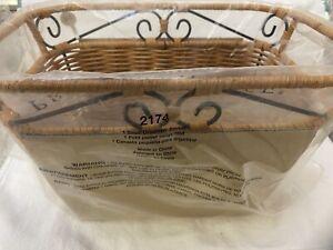 "2174 Princess House Casual Home Handwoven Organizer Basket Small 12""X 8""X 5"" NIP"