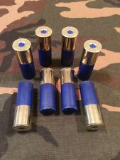 "12 GAUGE 2 3/4"" SNAP CAPS DUMMY TRAINING ROUNDS SET OF 8 SAFETY BLUE"